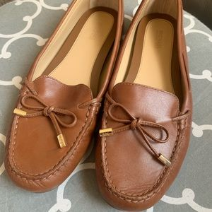 Michael Kors Sutton Moccasins Size 9 Luggage Brown